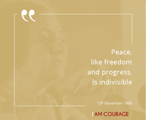 Peace, like freedom and progress, is indivisible.