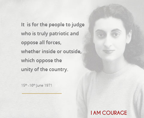 It is for the people to judge who is truly patriotic and oppose all forces, whether inside or outside, which oppose the unity of the country.