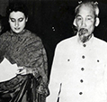 Indira Gandhi with Ho Chi Minh first President of Democratic Republic of Vietnam