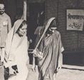 Jawaharlal Nehru, Vijayalakshimi Pandit and Indira Nehru, Wardha, 1942